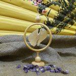 Щепная птица счастья в круге d8см