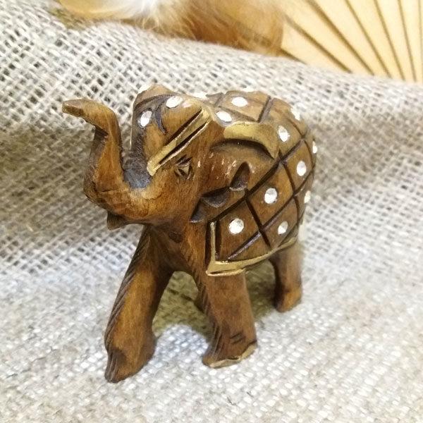 Слон из дерева со стразами 13*h12см