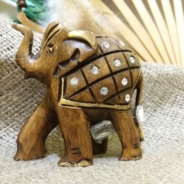 Слон из дерева со стразами 6*h5см