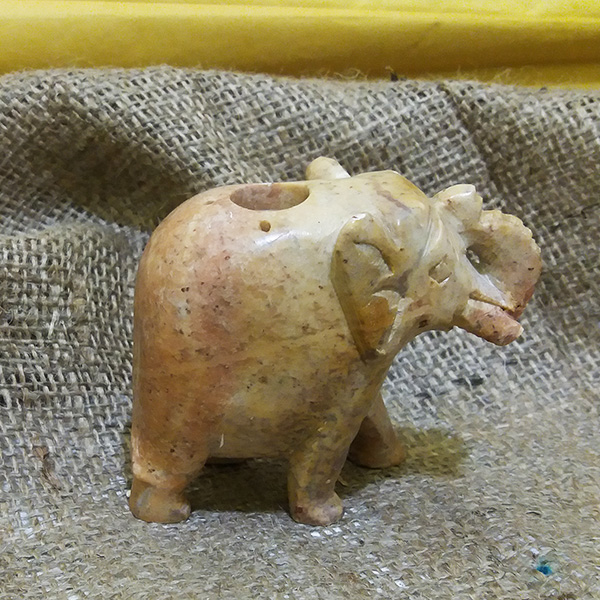 Подставка под благовония Слон камень 8х7см