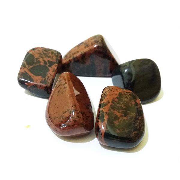 Обсидиан коричневый галтовка 10-20г