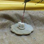 Подставка под благовония Круг со Слоном из камня 10х4см