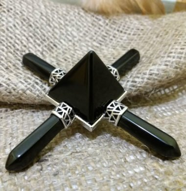 Пирамида Рейки-баланс из черного оникса 9х9