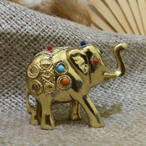 Слон з камінням / метал / 60 * h50мм