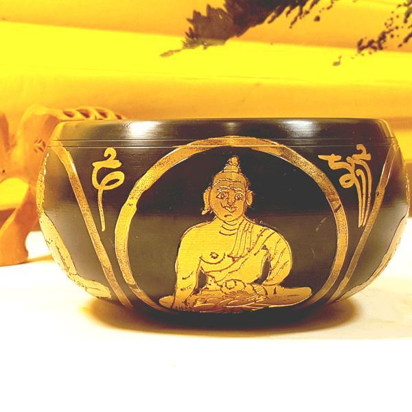 Чаша поющая  4 будды ваджр d 10 cм