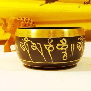 Чаша поющая точеная черненая Непал d 13см h 8см