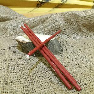 Свічка червона віск L 210 мм d 6мм