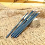 Свічка блакитна віск L 210 мм d 6мм