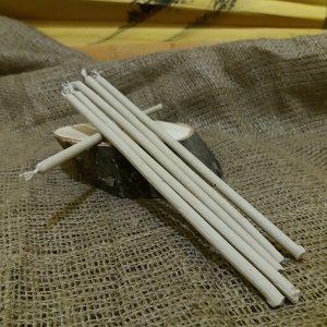 Свічка біла віск L 200 мм d 6мм