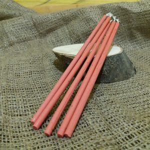 Свічка рожева віск L 200 мм d 6мм