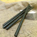 Свічка чорна віск h 210мм d 5мм