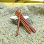 Свічка мала червона віск h150мм d 5мм
