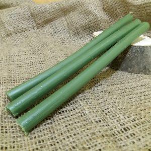 Свічка зелена віск L 210 мм d 6мм
