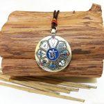 Мелонг брелок тибетский гороскоп – 8 сокровищ d 4см